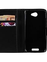 couleur unie cuir PU corps plein housse de protection avec support pour HTC One S