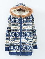 Women's Hooded Fleece Jacket Sweater