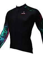 Deportes Bicicleta/Ciclismo Tops Hombres Mangas largas Transpirable / Resistente a los UV / Reductor del Sudor Coolmax Moda NegroS / M /