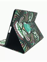 King of The Forest Series Pattern PU Leather Case with Stand and Card Slot for iPad 2/3/4