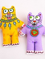 Lovely Cat Shaped Canvas Chewing Toys for Pet Dogs(Assorted Colours)