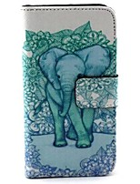 For Huawei Case Card Holder / Wallet / with Stand / Flip Case Full Body Case Elephant Hard PU Leather Huawei Y330