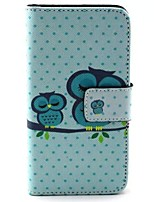 For Huawei Case Wallet / Card Holder / with Stand / Flip Case Full Body Case Owl Hard PU Leather Huawei Y330