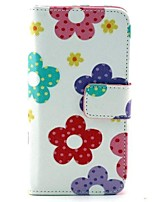 For Huawei Case Wallet / Card Holder / with Stand / Flip Case Full Body Case Flower Hard PU Leather Huawei Y330