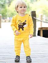 детские набор весенние и осенние одежды наборы с длинным рукавом тенниски и брюки Baby набор детская одежда Twinset Детские наборы