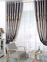 Toyi Flower Gilded Two-Sided Printing Bedroom  Curtains(Two Panels)