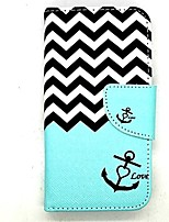 For LG Case Card Holder / Wallet / with Stand / Flip Case Full Body Case Lines / Waves Hard PU Leather LG