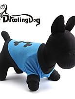 Todas las Estaciones - Azul Algodón - Camiseta - Perros / Gatos - XS / S / M / L