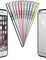Para Funda iPhone 6 / Funda iPhone 6 Plus Transparente Funda Acolchada Funda Un Color Dura PolicarbonatoiPhone 6s Plus/6 Plus / iPhone