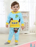 Primavera conjunto e manga longa outono tshirt e calças bebê infantil definir dois conjuntos de peças