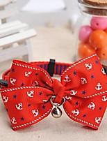 patrón de anclaje meshbelt ajustable bowknot rojo y un collar decorado campana para perros