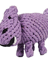 Hippo Shape Textile Chew Toys For Dog