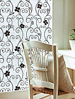 Black wrought iron toilet paper flower opaque frosted window film