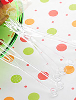 Transparent Disposable Plastic Fruit Forks,Random Color,4000Pcs/set