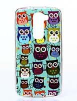 Blue Background Colorful Birds Pattern TPU Soft Case for LG G2 Mini