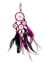 Lureme® Fashion  Roundness Dreamcatcher  Feather Bead Alloy Key Chain