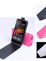 Fashion Quality Design Artificial Leather  for Sony Xperia M