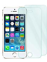 0.33 mm 2pack protector de pantalla de cristal templado con un paño de microfibra para el iphone 5/5 s / 5c