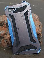 transformateur de métal froid imperméable à l'eau et à la poussière et anti gratter retour cas pour iphone 6s 6 plus se 5s 5
