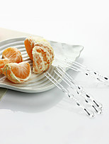 Small Size Disposable Transparent Fruit Forks,4000Pcs/set