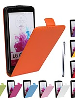 Genuine PU Cowhide Leather Magnetic Flip Wallet Case Cover Jacket for LG G3(Assorted Colors)