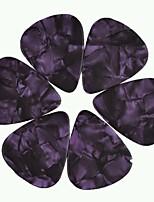 Medium 0.71mm Guitar Picks Plectrums Celluloid Pearl Purple 100Pcs-Pack