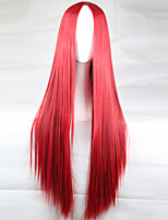 New Anime Cosplay Red Long Straight Hair Wig 80CM
