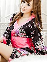 Women's Polyester Kimono Uniforms & Cheongsams/Robes/Ultra Sexy/Suits Nightwear