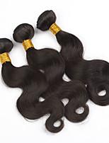 3pcs / lot malaysisches Körperwelle reines Haar Schüssen 300g natürliche Farbe Menschenhaar Webart Bündel