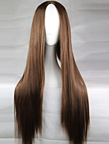 New Anime Cosplay Brown Long Straight Hair Wig 80CM