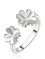 Fashion Flower Shape Silver Plating European Style Ring Jewelry (Silver)(1Pc)