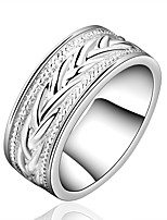 Sweet European Style Geometry Shape Silver Plating Ring For Woman's(Silver)(1Pc)