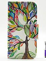 Für Motorola Hülle Geldbeutel / Kreditkartenfächer / mit Halterung / Flipbare Hülle Hülle Handyhülle für das ganze Handy Hülle Baum Hart