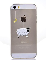 The Moon Sheep Pattern TPU Soft Cover for iPhone 7 7 Plus 6s 6 Plus SE 5s 5
