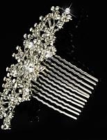 Pentes de Cabelo ( Cristal/Strass/Prata Chapeada ) - Casamento/Pesta