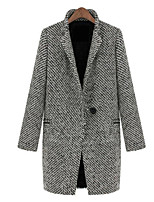 Chinanuo Women's Vintage England Thickened Coat (Fleece)
