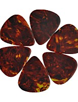 Medium 0.71mm Guitar Picks Plectrums Celluloid Brown 100Pcs-Pack
