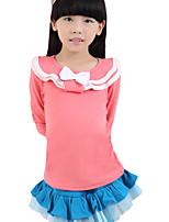 Camiseta Chica de - Primavera/Otoño - Mezcla de Algodón - Manga Larga