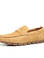 Men's Flats Spring / Fall Fashion Boots / Round Toe Leather Office & Career / Casual Flat Heel Others