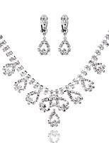 Жен. Ожерелья-бархатки Геометрической формы Искусственный бриллиант Сплав Бижутерия НазначениеСвадьба Для вечеринок День рождения