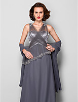 Women's Wrap Shawls Sleeveless Chiffon Silver Wedding / Party/Evening Scoop Draped Open Front