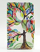 Для Кейс для Nokia Бумажник для карт / со стендом / Флип / С узором Кейс для Чехол Кейс для дерево Твердый Искусственная кожа Nokia