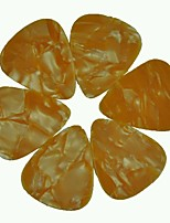 Medium 0.71mm Guitar Picks Plectrums Celluloid Pearl Orange 100Pcs-Pack