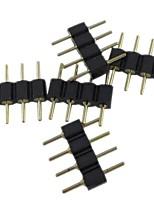 (5pcs) 4 broches connecteur mâle pour 5050/3528 rgb conduit la lumière de bande connecter