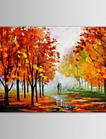שמן iarts ציור הנוף מודרני אוהב לאורך בד מצויר ביד כביש מדינה עם מסגרת מתוחה