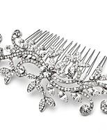 Wedding Party Bridal Bridesmaid Crystal Leaf Hair Combs