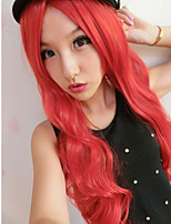 The New Harajuku Wig Women's Red Curly Hair Wig 80 cm