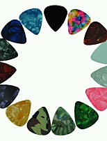 Medium 0.71mm Guitar Picks Plectrums Celluloid Assorted Colors 100Pcs-Pack