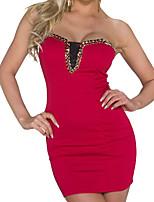 Платье - Мини - Лайкра - Секси/Большие размеры