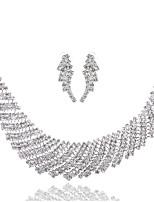 Жен. Ожерелья-бархатки Геометрической формы Искусственный бриллиант Сплав Базовый дизайн Бижутерия НазначениеСвадьба Для вечеринок День